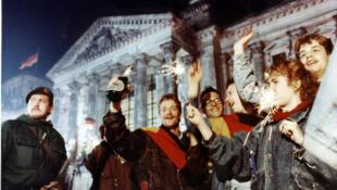 1990年10月3日两德统一资料图片