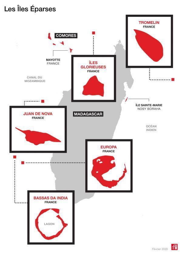 Cartes des îles Éparses.