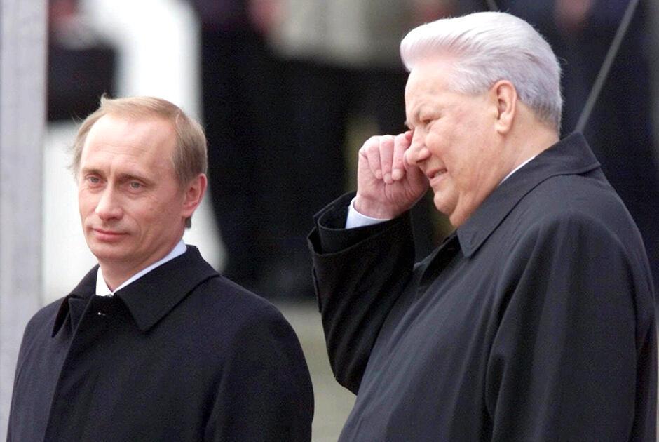 Борис Ельцин и Владимир Путин. 7 мая 2000 года