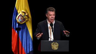 Le président colombien Juan Manuel Santos.