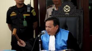O juiz, Ujang Abdullah, rejeitou o recurso de dois australianos condenados à pena de morte por tráfico de drogas.