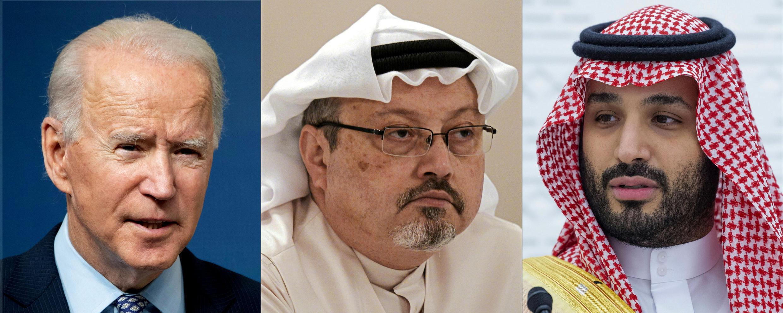 2021-02-26 US President Joe Biden Saudi journalist Jamal Khashoggi Crown Prince Mohammed bin Salman