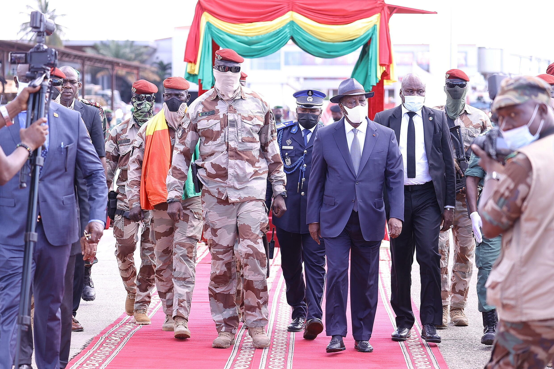 Alassane Ouattara et Mamady Doumbouya