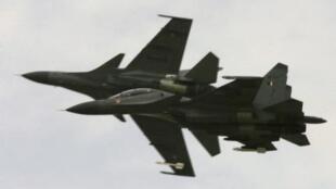 Một kiểu máy bay tiêm kích Sukhoi của Nga. Việt Nam đã đặt mua 12 chiếc Su-30 MK2.