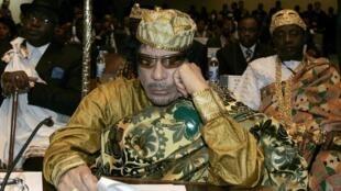 Mouammar Kadhafi prend la présidence de l'Union africaine au sommet d'Addis-Abéba. Ethiopie, le 02 février 2009.