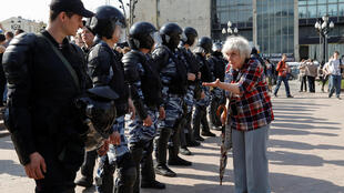 Участниками митинга не удалось найти общий язык с полицией, 5 мая 2018 года, Москва.