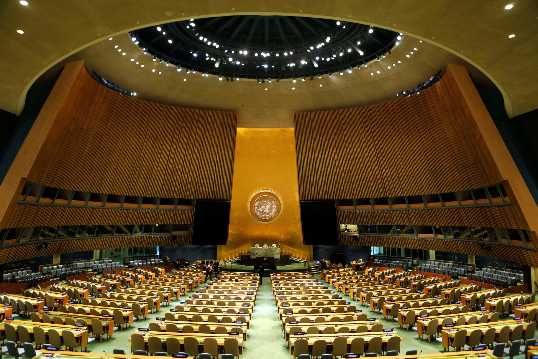 聯合國大會會場  2017年9月17日