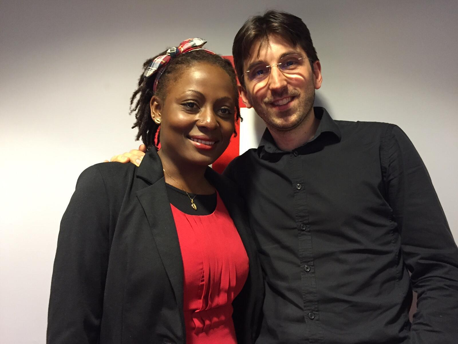 Yolande et Bastien à RFI.