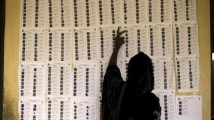 Dans un bureau de vote de Jalingo, au Nigeria, lors des élections gouvernatoriales de ce dimanche 11 avril 2015.