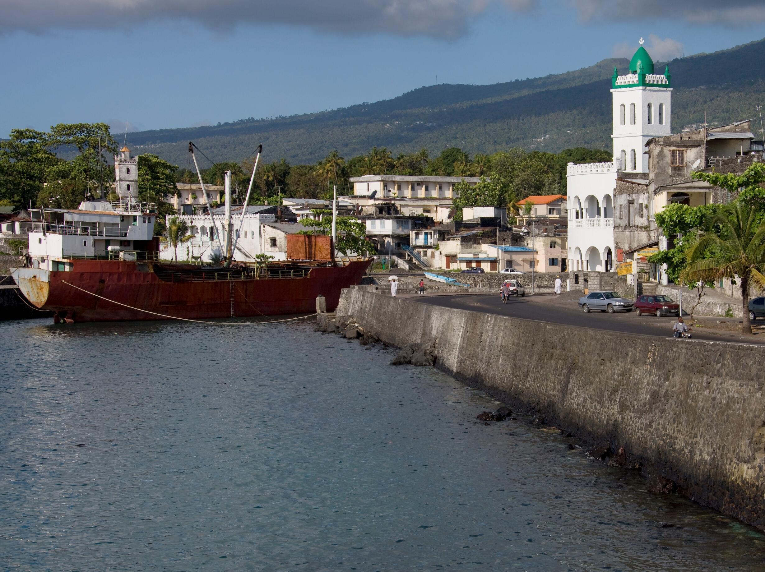 Vue générale de Moroni, la capitale des Comores (image d'illustration).