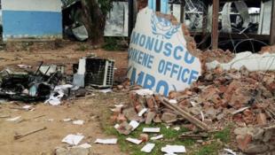 Les dégâts dans les locaux de la Monusco sont importants après les manifestations violentes qui ont visé la mission de l'ONU à Beni.