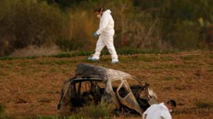 Daphne Caruana Galizia a été tuée dans l'explosion de sa voiture à Bidnija, le 16 octobre 2017.
