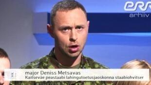 Денисс Метсавас на телепрограмме Vabariigi Kodanike в 2016 году