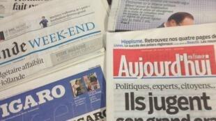 Primeiras páginas diários franceses 29/3/2013
