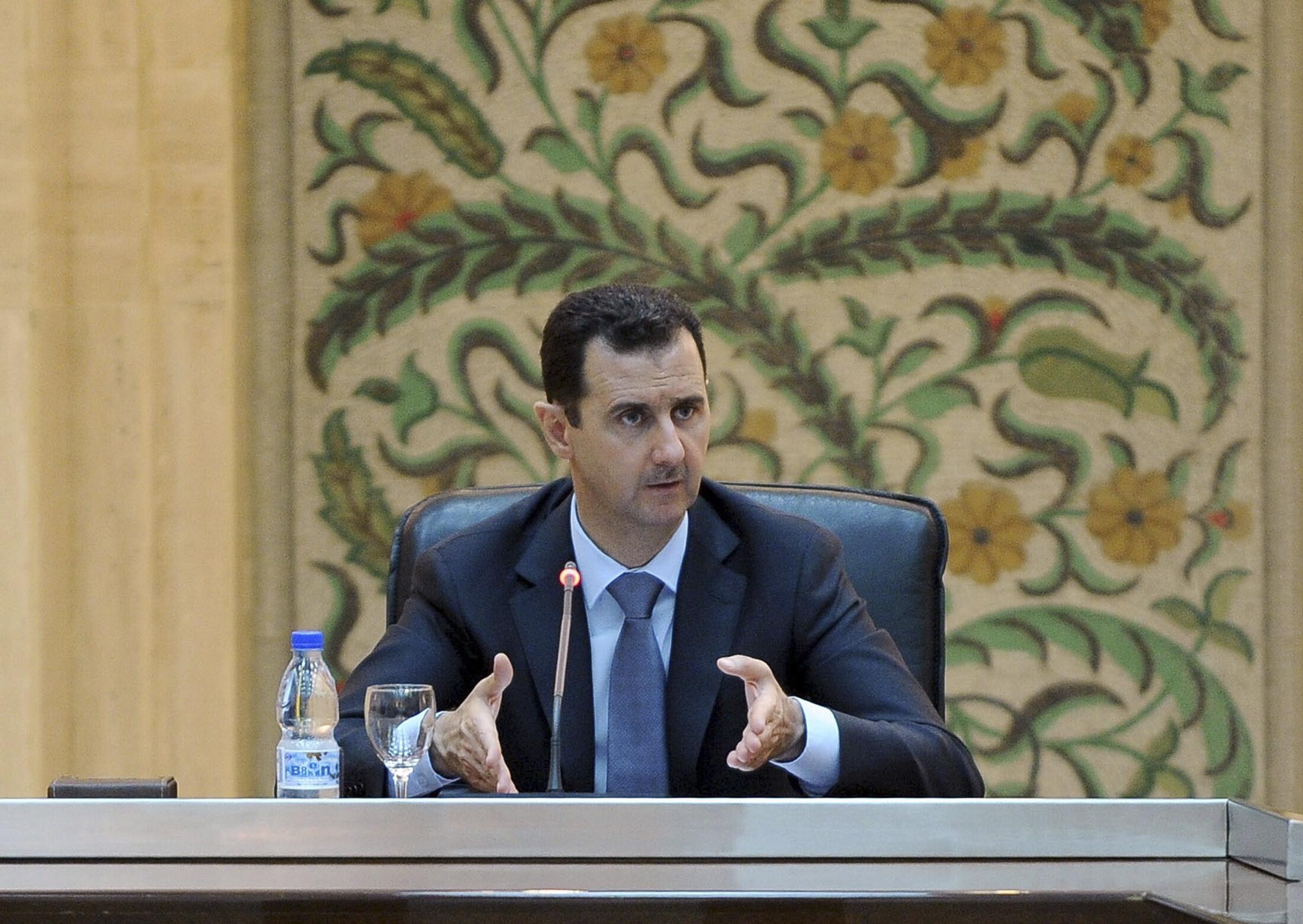 Bashar al-Assad speaks to the new government in Damascus, 26 June, 2012