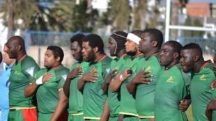 L'équipe de rugby du Sénégal lors de la CAN 1B 2016.