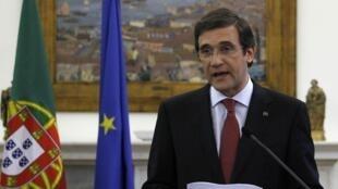 Le Premier ministre portugais Pedro Passos Coelho, le 3 mai 2013 à Lisbonne.