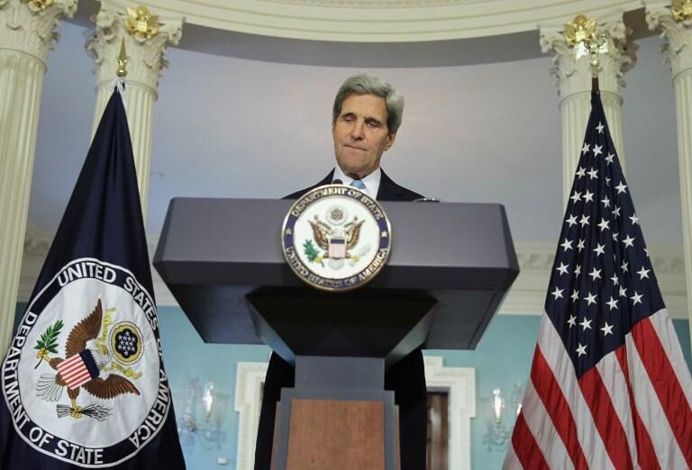Le secrétaire d'Etat américain John Kerry en campagne pour convaincre un Congrès sceptique de la nécessité d'intervenir en Syrie.