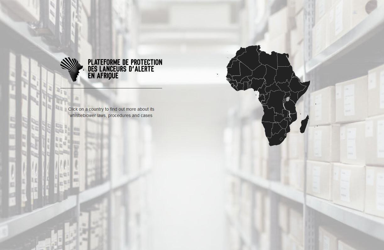 Capture d'écran du site de la PPLAAF, nouvelle plateforme de protection des lanceurs d'alerte en Afrique.