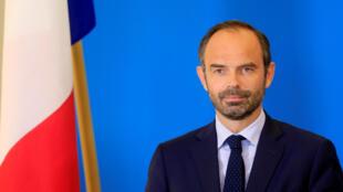 Thủ tướng Pháp Edouard Philippe trong một cuộc họp báo tại Tallinn, Estonia, ngày 28/06/2017.