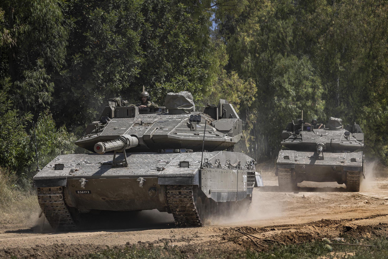 Israël - Bande de Gaza - Armée - Chars - AP21134405327126
