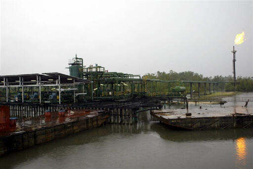 A Shell facility in the Niger Delta
