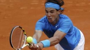 Rafael Nadal venceu o croata Ivan Ljubicic, nesta segunda-feira.