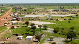 A cidade de Abyei.