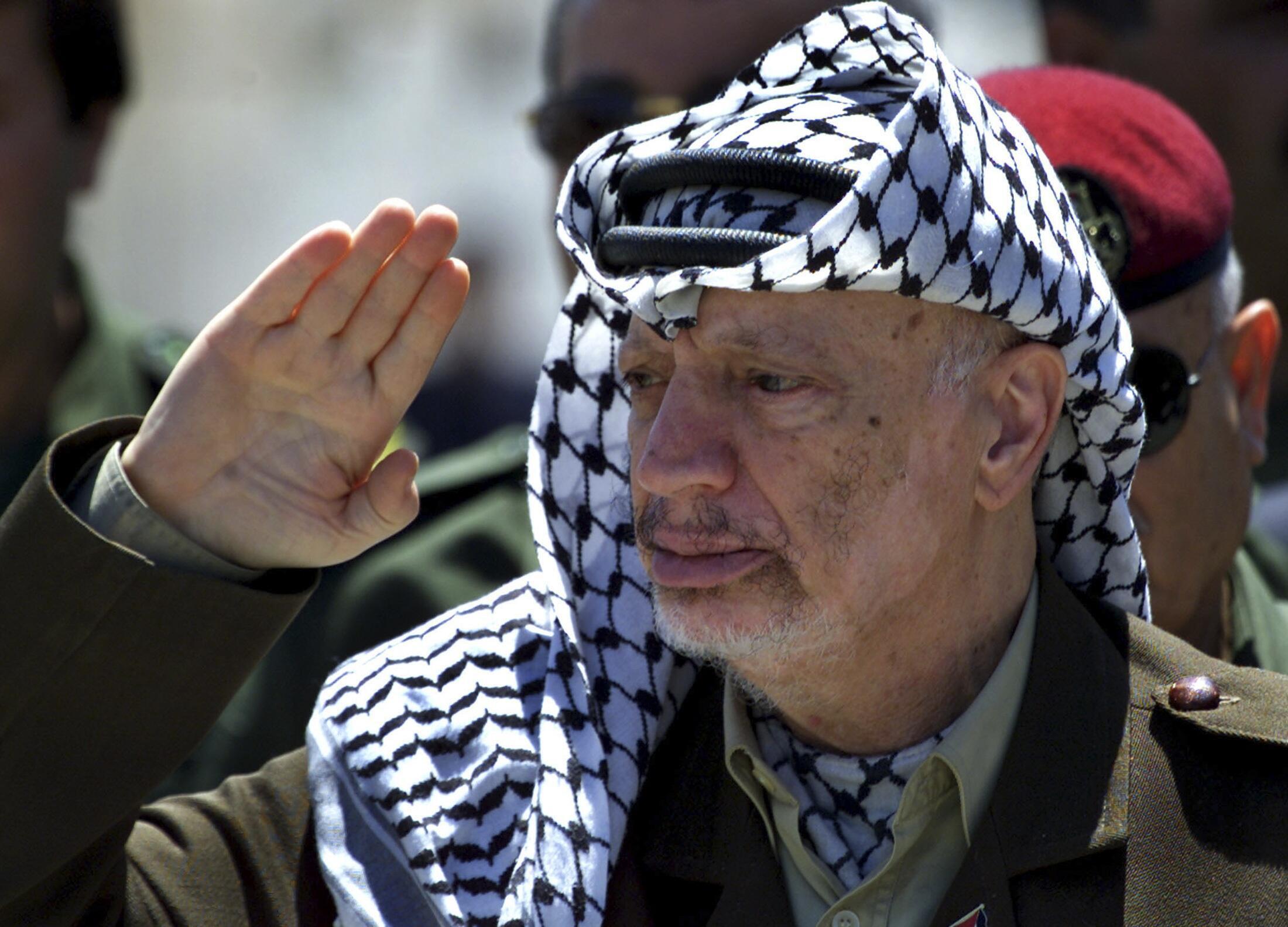 Ông Yasser Arafat. Ảnh chụp tại Gaza ngày 05/05/ 2001