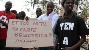 Au Sénégal, des opposants à une troisième candidature d'Abdoulaye Wade.