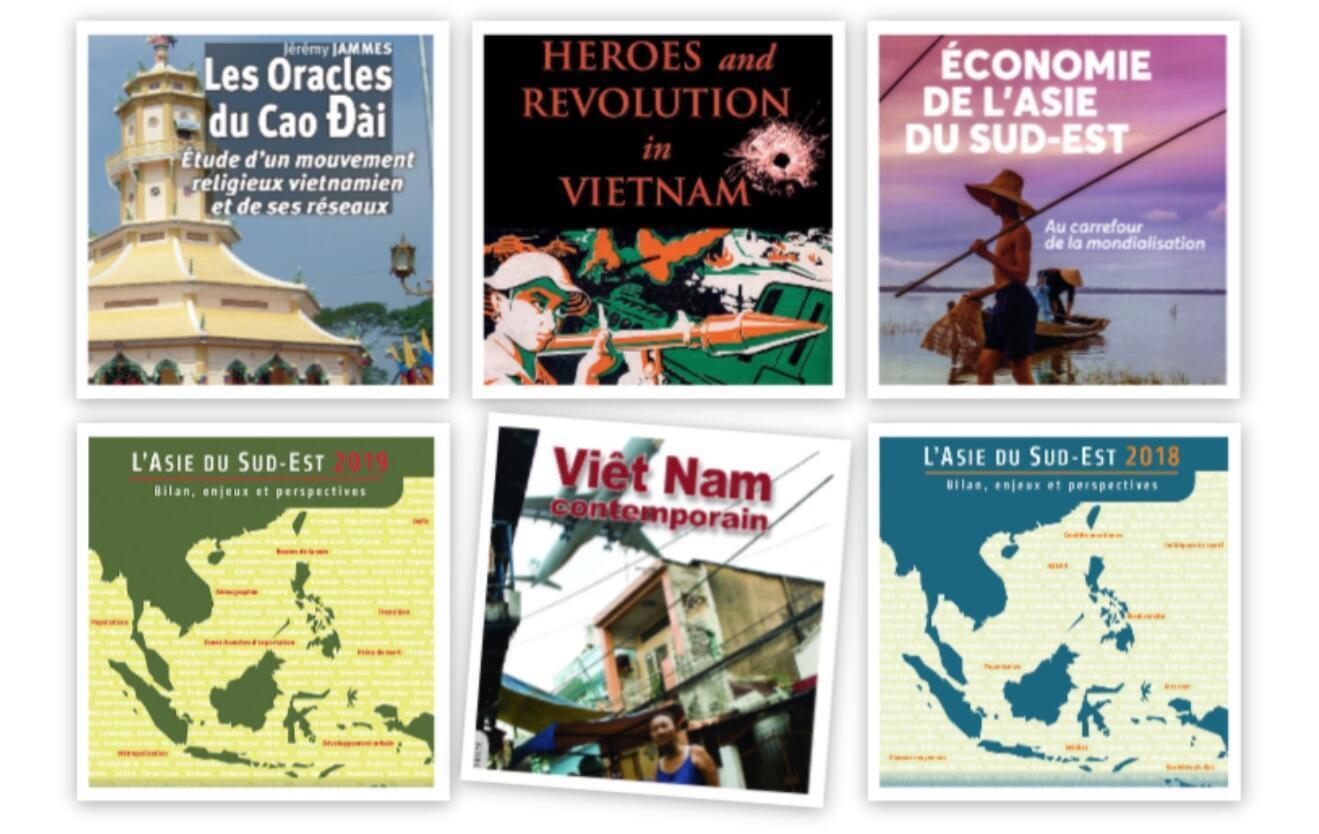 Ảnh ghép một số tác phẩm của Viện Nghiên cứu Đông Nam Á đương đại, IRASEC, Bangkok, Thái Lan.