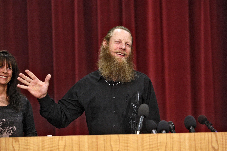 Bob Bergdahl, le père du sergent Bowe Bergdahl, lors d'une conférence de presse dans l'Idaho, aux Etats-Unis.
