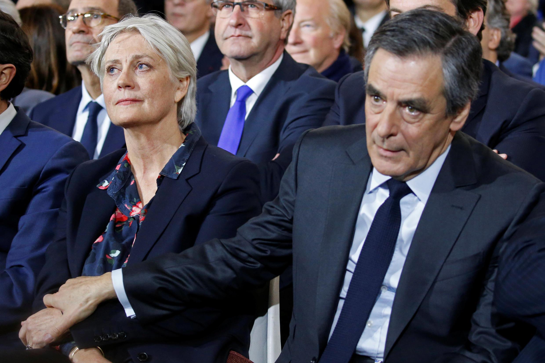 Francois et Penelope Fillon lors du meeting du 29 janvier à Paris, quelques jours seulement après les révélations du «Canard Enchaîné».