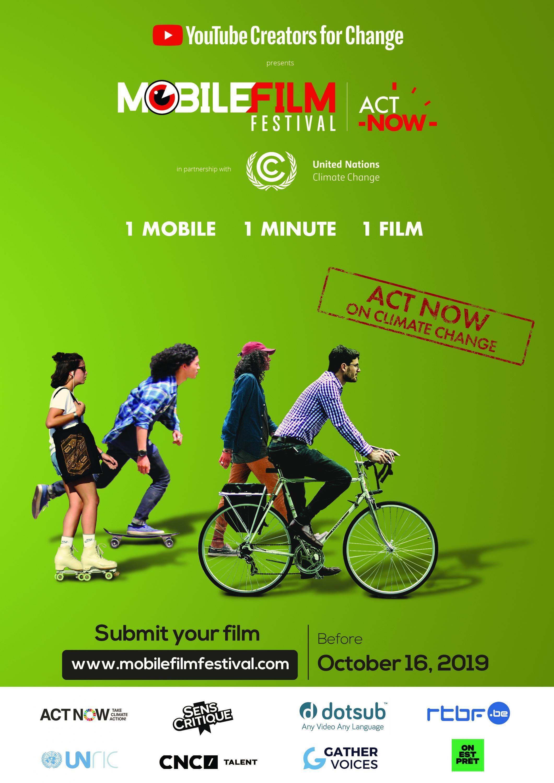 Mobile Film Festival 2019 poster for transportation