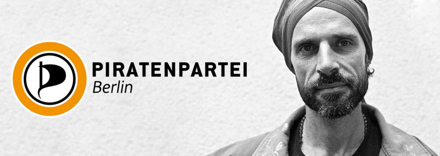 Fabricio do Canto, do Partido Piratas de Berlim.