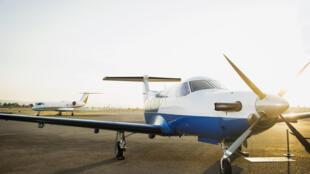 Un avion privé.