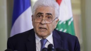 """""""ناصیف حتی"""" دیپلمات و وزیر امور خارجۀ مستعفی لبنان."""