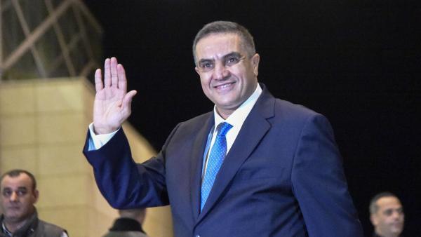 Abdelaziz Belaïd lors d'un débat télévisé, le 6 décembre 2019 à Alger.