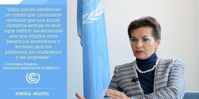 Christiana Figueres, secretária-geral da Convenção-Quadro das Nações Unidas sobre as Mudanças Climáticas (UNFCCC).