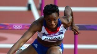 Reina-Flor Okori lors des Jeux olympiques de 2012 à Londres.