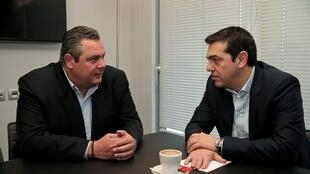 Панос Камменос (слева) и Алексис Ципрас