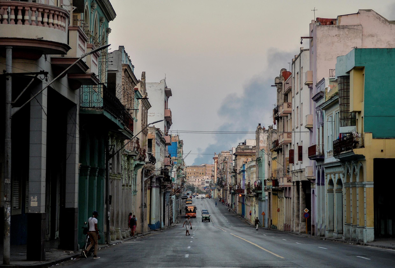 Vue des rues vides de La Havane, le 25 mars 2020 (photo d'illustration).
