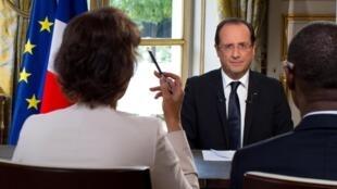 François Hollande voit l'Afrique comme un continent d'avenir.