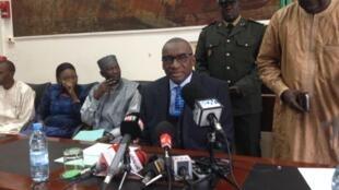 Sidiki Kaba, ministre de la Justice du Sénégal, le 19 décembre 2014 à Dakar.