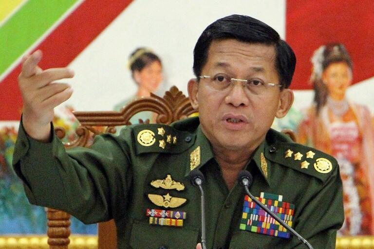 ឧត្តមសេនីយ៍ មីន អ៊ុងឡាំង (Min Aung Hlaing) ប្រមុខកងទ័ពភូមា (រូបថតឯកសារ)