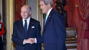 Laurent Fabius John Kerry, Paris, 14 November 2015