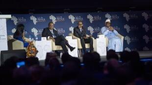 Rais wa Kenya Uhuru Kenyatta, rais wa Rwanda Paul Kagame na Ibrahim Keita wa Mali wakiwa jijini Kigali Mei 15 2019