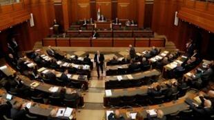 Une trentaine des 128 députés libanais ont boycotté la séance parlementaire, lundi 27 janvier 2020.