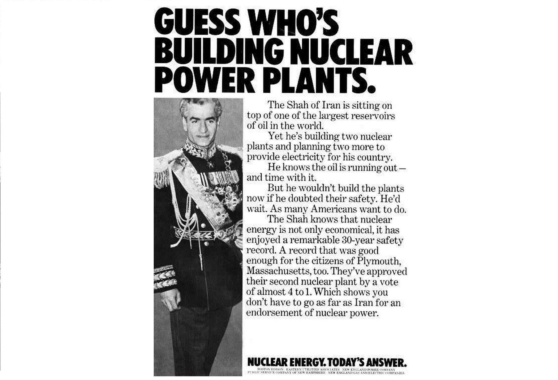 1970s advertisement of Boston Edison, a company that made nuclear plants