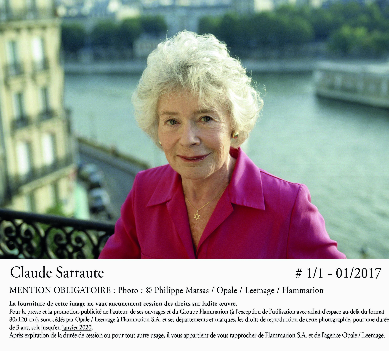 Portrait de Claude Sarraute, à l'occasion de la sortie de son 13ème livre «Encore un instant».